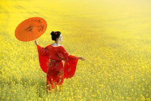 geisha on field