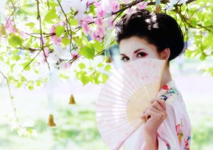 geisha in garden